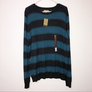 Sonoma blue & black light weight sweater crew neck